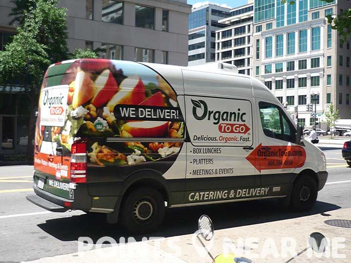 places near deliver delivery van organic delivers fare