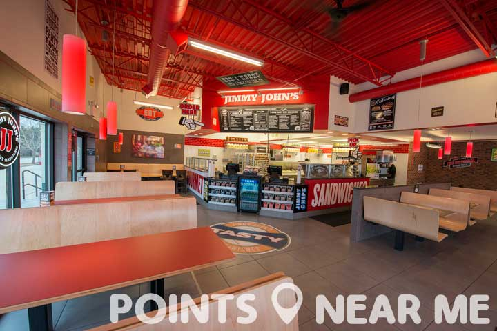 Jimmy john 39 s near me points near me for American cuisine restaurants near me